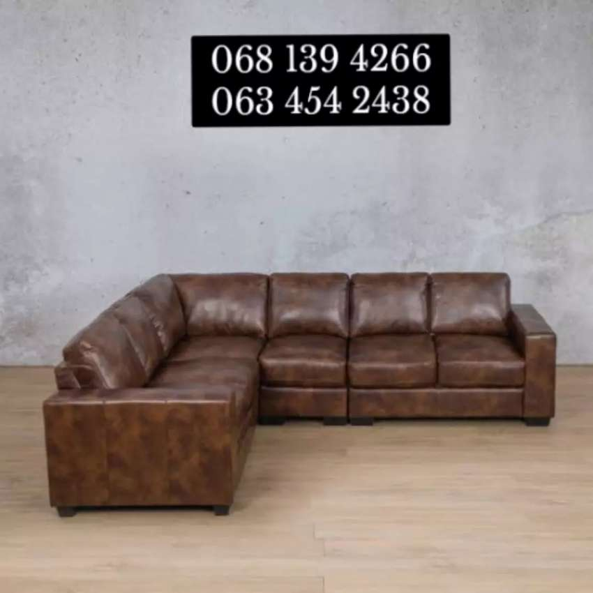 L - shape Genuine Leather couch 0