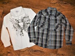 BONPRIX REBEL Koszula chłopięca 2 sztuki 134 - 140