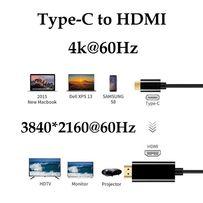 Адаптер Кабель 4K/60Hz Type-C (Thunderbolt 3) to HDMI HDTV 1.8 метра