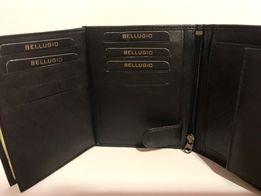 Nowy skórzany męski portfel Bellugio