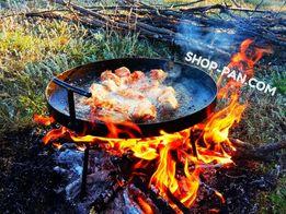 Сковорода с чехлом и крышкой из диска бороны для пикника садж гриль