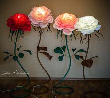 Ростовые цветы светильник ночник торшер