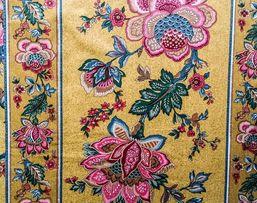Tkanina dekoracyjna na zasłony, obrus duży stół.