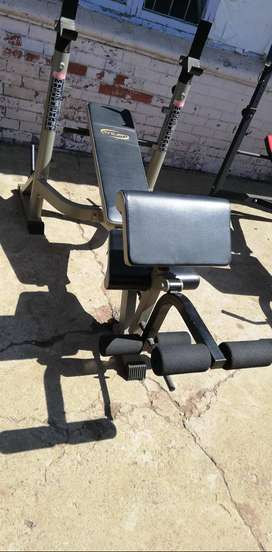 Trojan Muscle craft bench with weights
