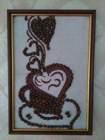 Картины с кофе,ручная работа 150 грн