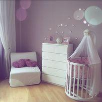 Набор: овальная\круглая кроватка для новорожденных 7в1 МАТРАС В ПОДАРО