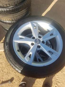 2019 Set of tyres and mag rims 17""