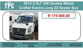 2013 2.5LT Vw Double Wheel Crafter Extra Long 22 Seater Bus For Sale.