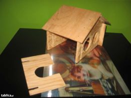 Domek dla chomika, myszy, świnki i innych gryzoni drewniany