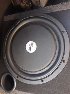 12 inch star sound flat sub and amp for sale