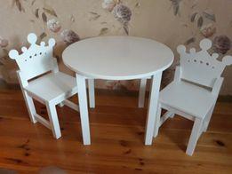 Детская мебель набор. Стол и стулья для принцес