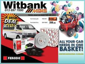 Ferodo Quantum Brake Pads and Discs available at Witbank Midas!
