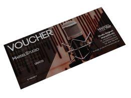 Voucher bon upominkowy, podarunkowy na nagrania wokalne dla wokalisty