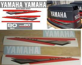 Yamaha 2 stroke outboard motor cowl decals stickers graphics kits