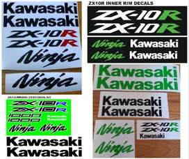 ZX 10R decals stickers graphics kits for all years.