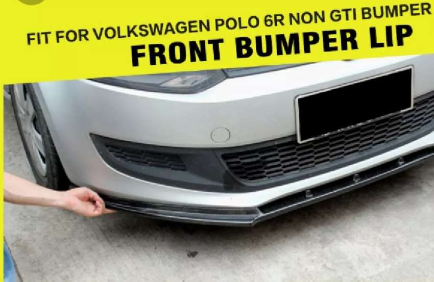 VW Polo R style front lip 0