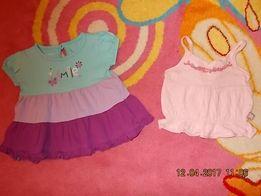 Туника платье сарафан + майка р.62 см для девочки на 3-6 месяцев