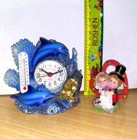 Статуэтки керамика мышка,дельфины,градусник,часы,хрюша,свинки,свадьба