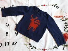 Tommy Hilfiger zimowy świąteczny sweter 98/104