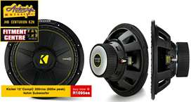 Kicker 12 inch Competition 300rms Subwoofer Kicker 44CWCS124 CompC Ser