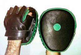 Боксёрские лапы кожаные ,прочные, удобные . Шью сам.