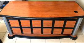 Solid wood executive office desk for sale