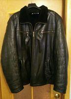 Мужская куртка кожаная зимняя Турция