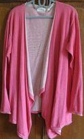sweter rozpinany różowy MILANO XL