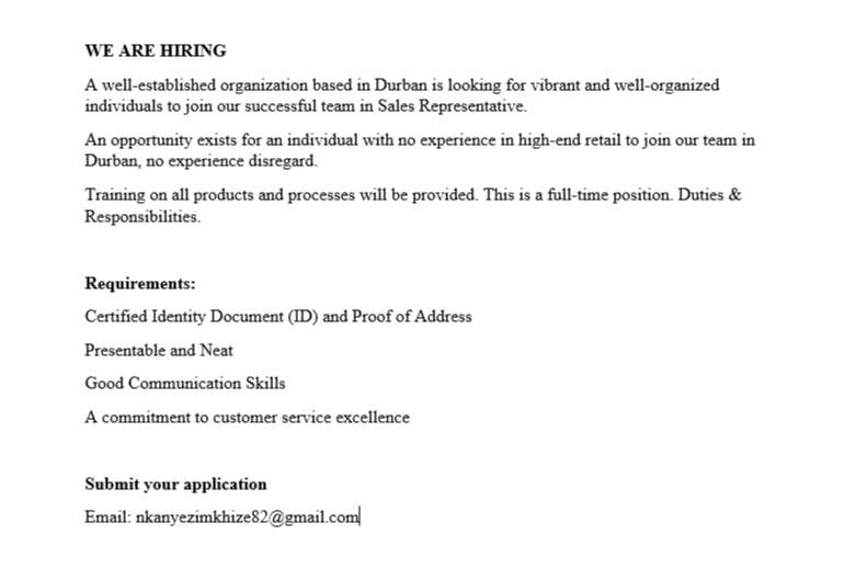 We are Hiring 0