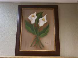 Calla Lilies On Canvas By Lucy Rox
