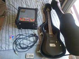 CortX1 Electric guitar and Roland cube 15xl amp and accesories