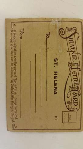 Collectors item St. HELENA Letter card