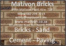 Mativon Bricks, Sand, Cement & Paving Bricks