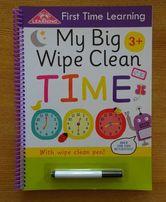 Англійська книга-зошит для вивчення часу.
