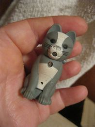 детская игрушка кот котик котенок брелок пластик фонарик звук-мяукает