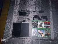 Image of XBox one + games+controls