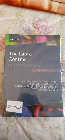 Law of contract in South Africa,3rd edition (private law)
