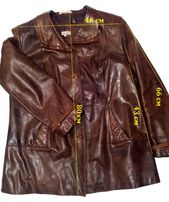 Куртка шкіряна, жіноча