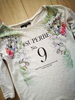 RESERVED rozm.XS 34 sweterek FLOWERS bluzka damska bdb stan