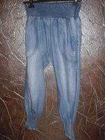 jeansowe spodnie baggy z kieszeniami z tyłu rozmiar M
