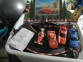 2 x Scalelectrics car racing sets (Lighting McQueen cars)