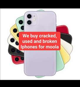We buy cracked Iphones for sale