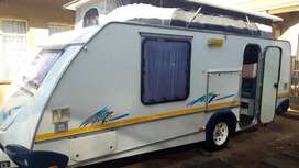 SPRITE SPLASH 2001 MODEL WITH FULL TENT AND RALLY TENT WITH SIDES