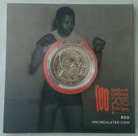 2018 Mandela centenary uncirculated R50 coin (low mintage)