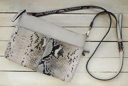 Женская сумка клатч Parfois (искусственная змеиная кожа) на плечо