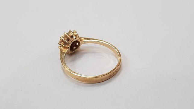 Przepiękny złoty pierścionek/ 585/ 1.9 gram/ R12/ sklep Gdynia Gdynia - image 2