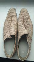 """Туфли мужские 42 """"под крокодила"""" Кожа.Италия.15% цены."""
