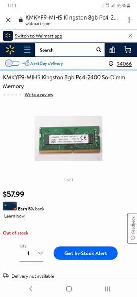 8GB ddr4 laptop ram hardly been used