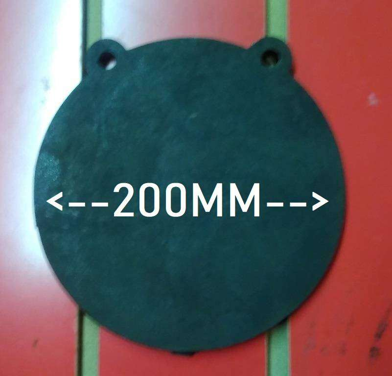 200MM Round Gong / Ghong Target NM500 10MM THICK 0