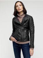 Кожаная куртка jigsaw quilted washed biker jacket allsaints